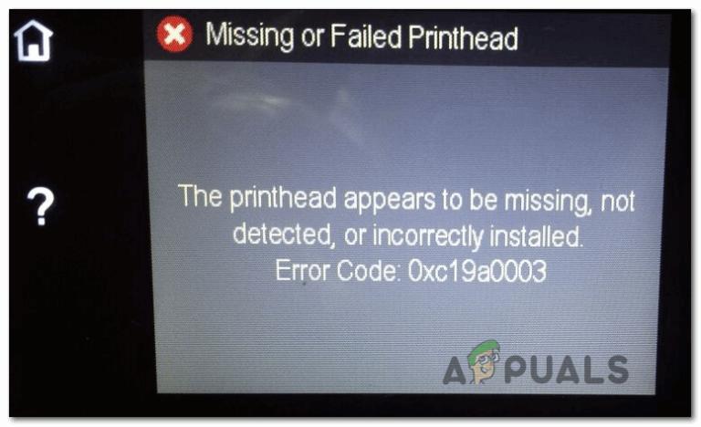Как исправить ошибку принтера HP Code 0XC19A0003?