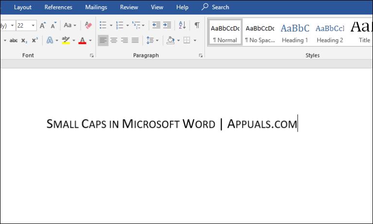 Как сделать маленькие заглавные буквы в Microsoft Word?