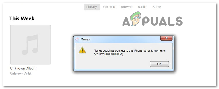 Как исправить ошибку iTunes 0xE800000A
