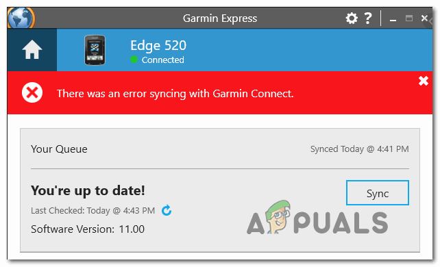 [FIX] Произошла ошибка синхронизации с Garmin Connect