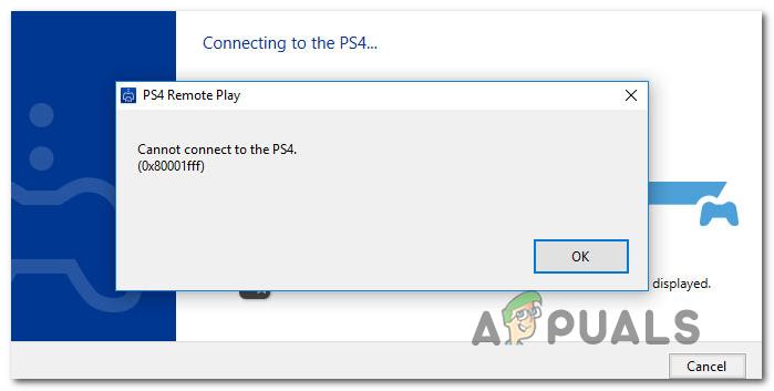 Как исправить ошибку PS4 Remote Play 0x80001FFF