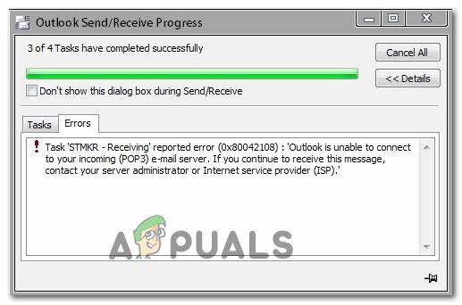 Как исправить ошибку Outlook 0x80042108?