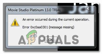 [FIX] Код ошибки 0xc0AA0301 (сообщение отсутствует)