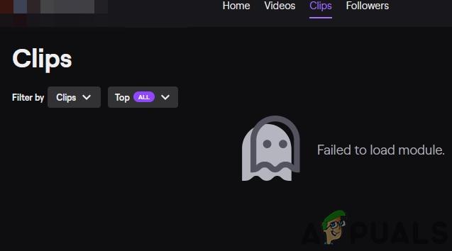 Исправлено: не удалось загрузить модуль Twitch