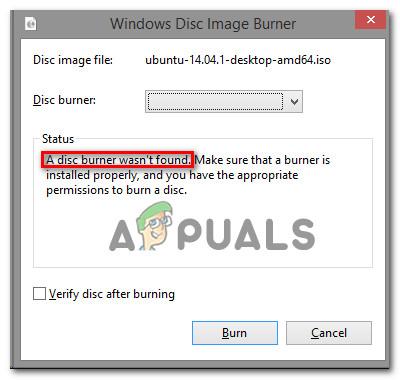 [FIX] «Запись диска не найдена» при записи изображения