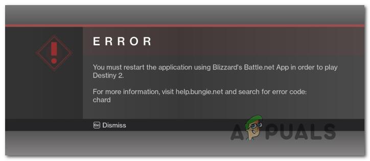 Как исправить код ошибки 'Chard' в Destiny 2