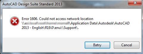 [FIX] Код ошибки 1606 (не удалось получить доступ к сетевому расположению)