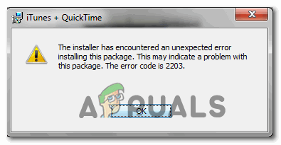 [FIX] Код ошибки 2203 при установке программы