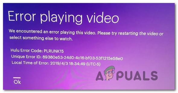Как исправить ошибки Hulu с кодом PLRUNK15 и PLAREQ17