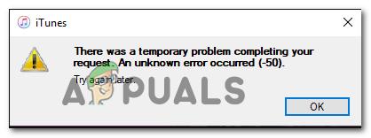 Как исправить ошибку iTunes Code -50 в Windows «временная проблема»