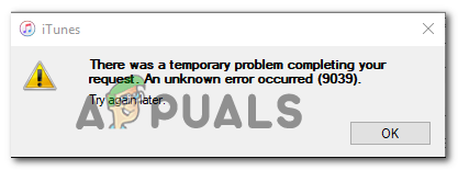 Как исправить ошибку iTunes 9039