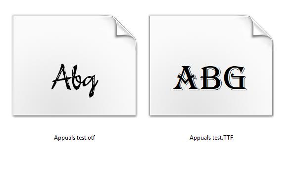В чем разница между OTF и TTF?