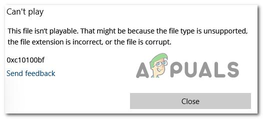 Как исправить 0xC10100BF (этот файл не воспроизводится)