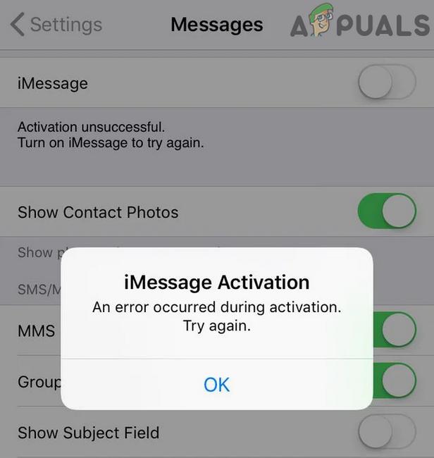 Исправлено: ошибка активации iMessage – Appuals.com