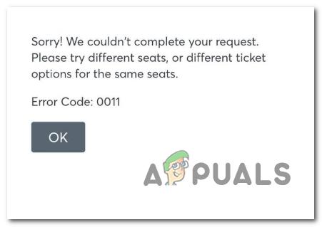 Как исправить код ошибки Ticketmaster 0011