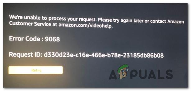 Как исправить код ошибки Amazon Prime 9068
