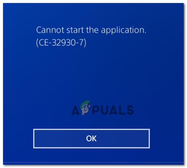 [FIX] Код ошибки PS4 CE-32930-7