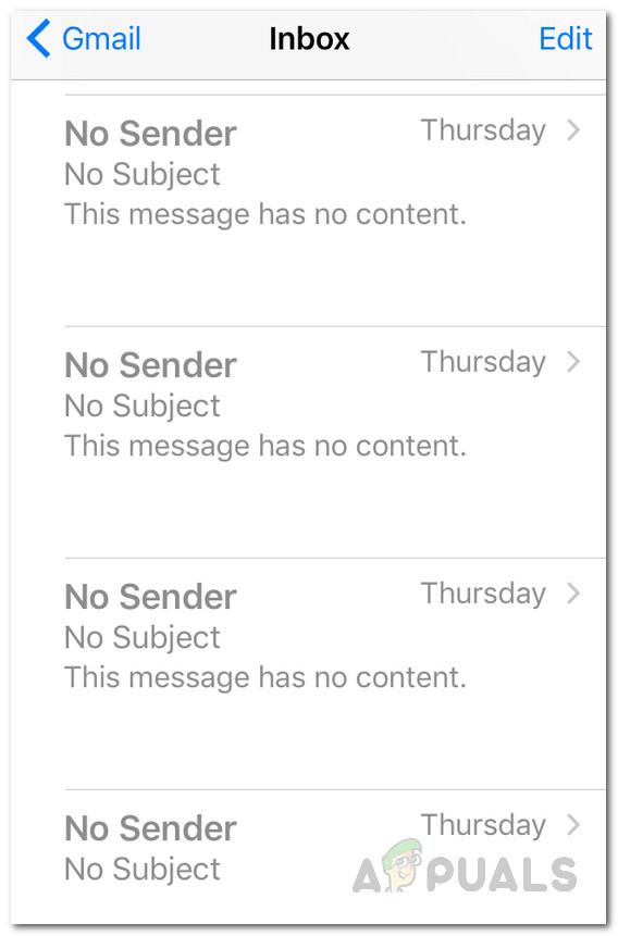 Как исправить проблему с почтой iOS без отправителя и темы