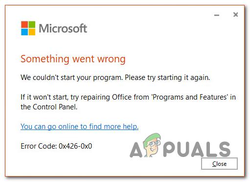 Как исправить код ошибки Microsoft 0x426-0x0