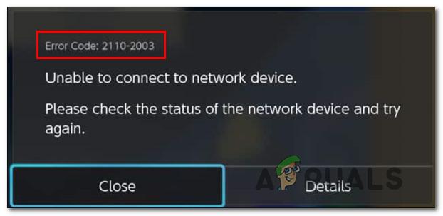 Как исправить код ошибки Nintendo Switch 2110-2003