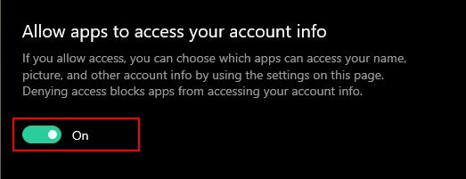 Как запретить приложениям получать информацию об учетной записи в Windows 10?