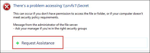 Как настроить сообщение об отказе в доступе в Windows 10?