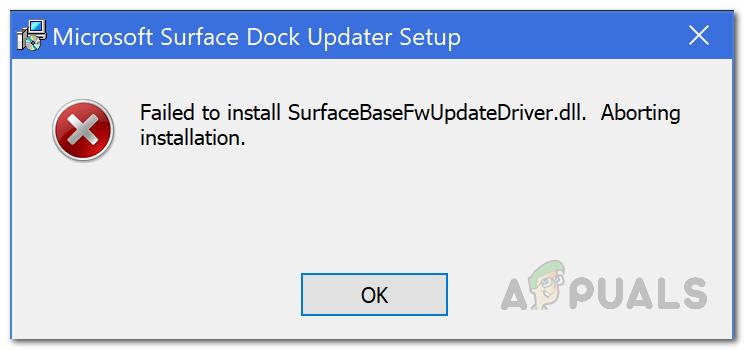 ИСПРАВЛЕНИЕ: не удалось установить SurfaceBaseFwUpdateDriver.dll на Microsoft Surface