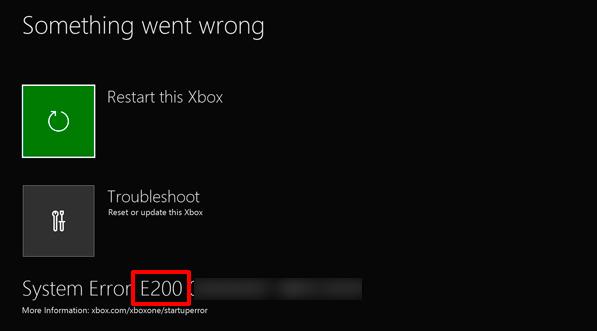 Как исправить код ошибки Xbox One E305