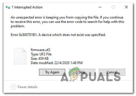 Как исправить код ошибки 0X800701B1 в Windows 10