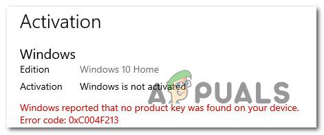 [FIX] Ошибка активации Windows 0XC004F213 в Windows 10