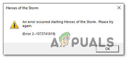 Как исправить ошибку 2: -1073741819 в Heroes Of the Storm