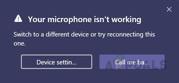 Как исправить неработающий микрофон в MS Teams?