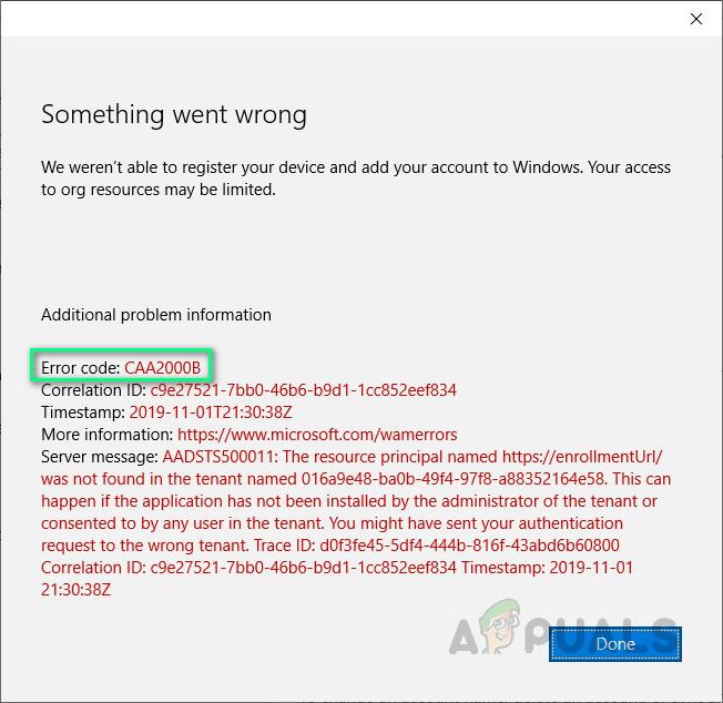 Как исправить не удается войти в Microsoft Teams с кодом ошибки CAA2000B в Windows 10?