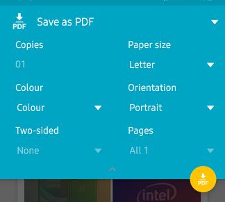 Как конвертировать снимок экрана в PDF на Android