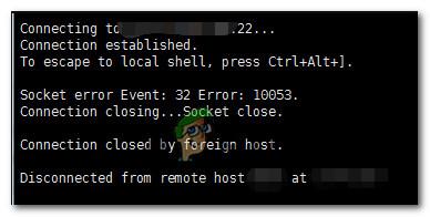 Как исправить ошибку асинхронного сокета 10053 в операционной системе Windows?