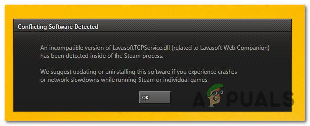 Как исправить ошибку Steam LavasoftTCPService.DLL