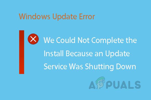 [FIXED] Не удалось завершить установку, так как в Windows 10 закрывалось обновление