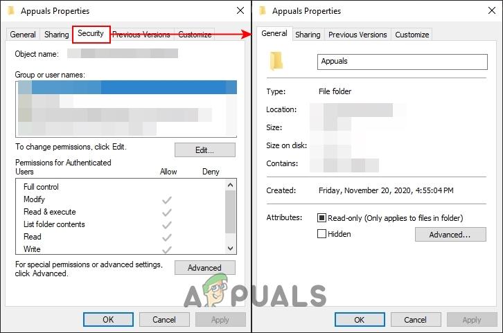 Как удалить вкладку «Безопасность» из окна свойств файлов и папок?