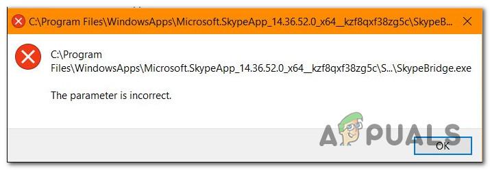 Как исправить ошибку SkypeBridge.exe в Windows 10