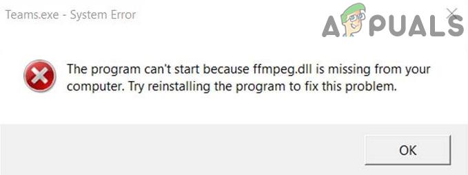 Как исправить отсутствие файла FFMPEG.dll