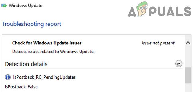 Ошибка isPostback_RC_Pendingupdates в Центре обновления Windows