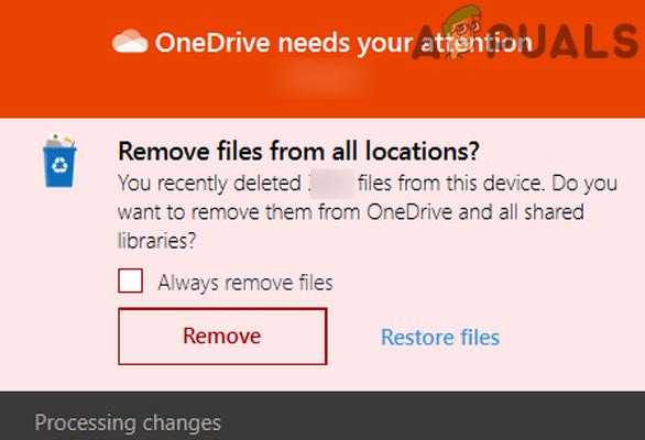 Исправлено: OneDrive автоматически удаляет файлы из папки OneDrive