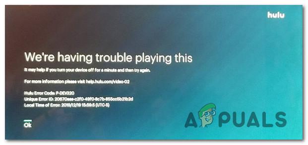 Как исправить код ошибки Hulu P-DEV320