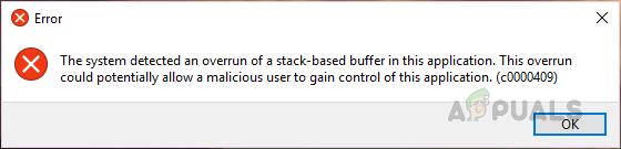 [FIX] Система обнаружила переполнение буфера стека в этом приложении
