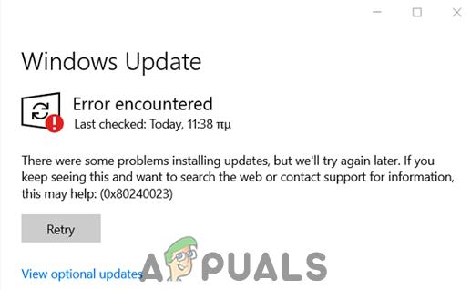Исправлено: ошибка Центра обновления Windows 0x80240023