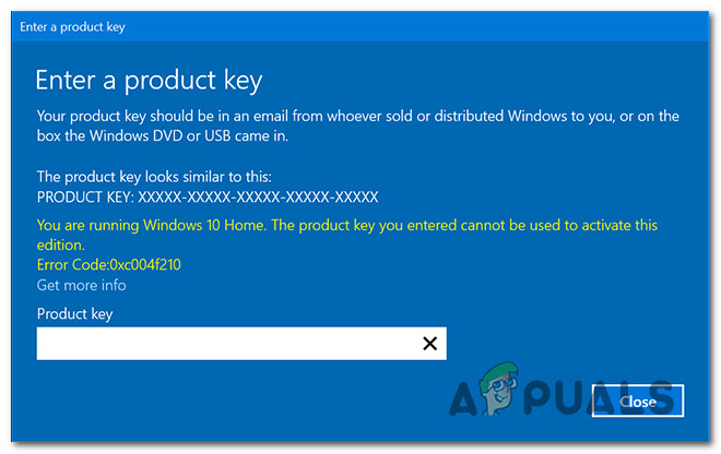 Как исправить ошибку 0xc004f210 при активации Windows 10