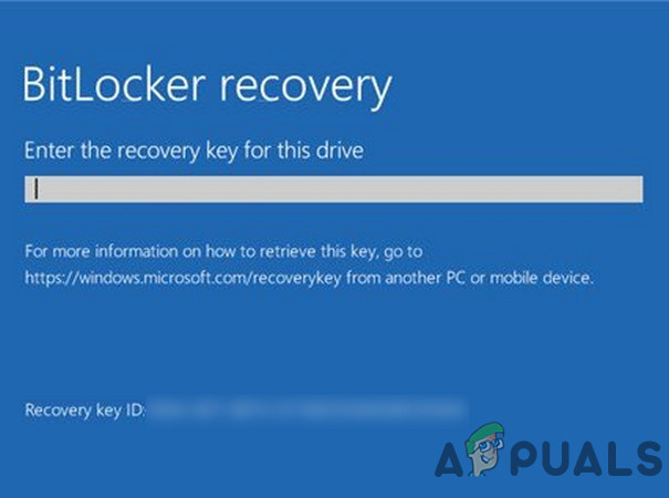 Исправлено: ключ восстановления BitLocker не найден