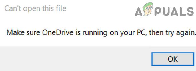 Мы не можем открыть этот файл прямо сейчас.  Убедитесь, что OneDrive работает на вашем компьютере (исправить)