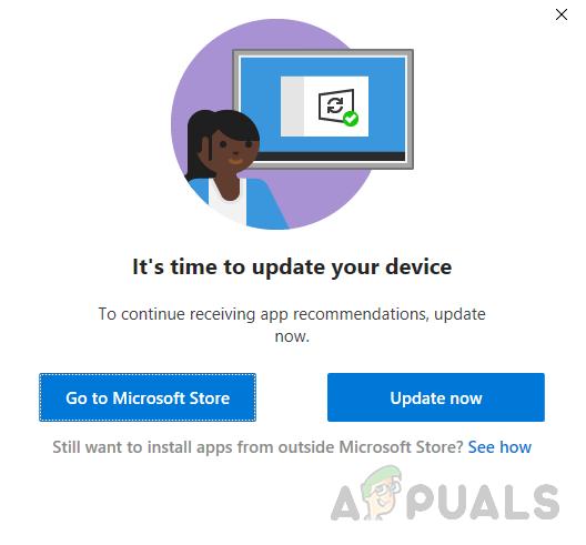 Как исправить ошибку «Пора обновить устройство» в Windows 10?