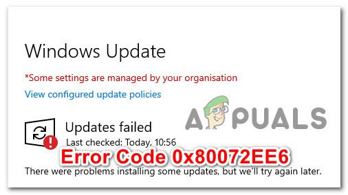 Как исправить код ошибки WSUS 0x80072EE6